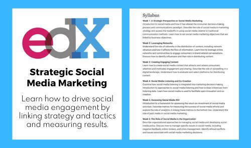 Strategic Social Media Marketing on edX